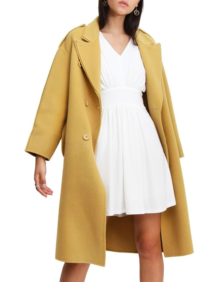 Aussie Sky Saffron Double-Breasted Wool Coat image 5