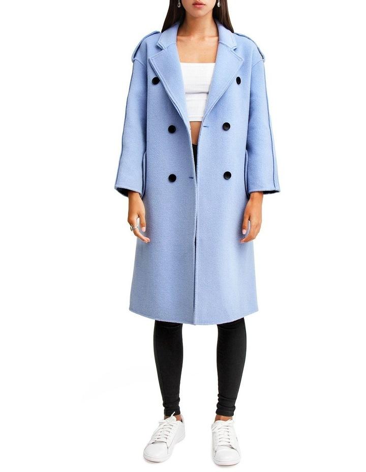 Aussie Sky Blue-Breasted Wool Coat image 1