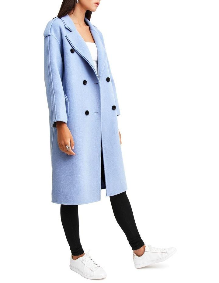 Aussie Sky Blue-Breasted Wool Coat image 2