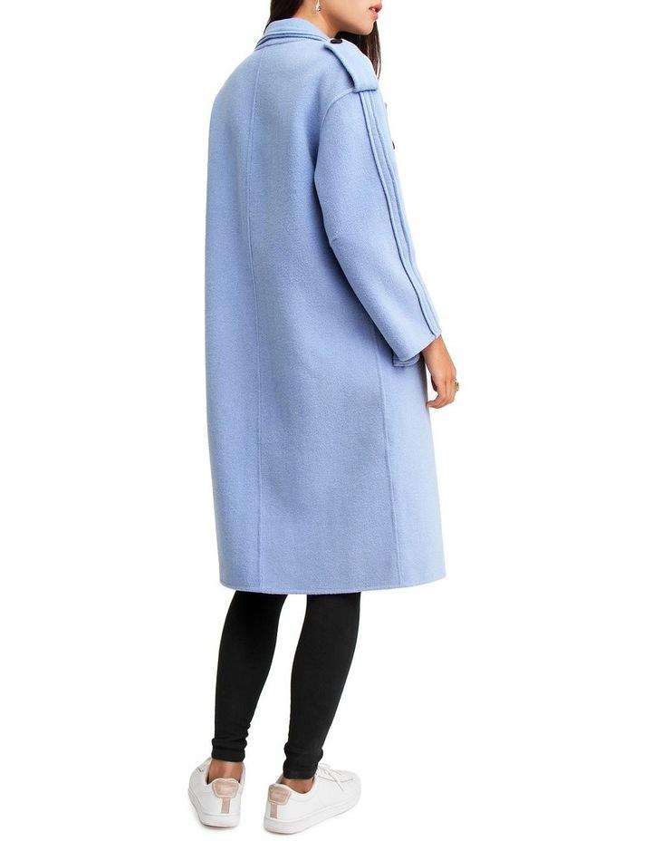Aussie Sky Blue-Breasted Wool Coat image 3
