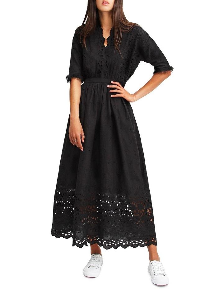 All Eyes On You Black Midi Dress image 1