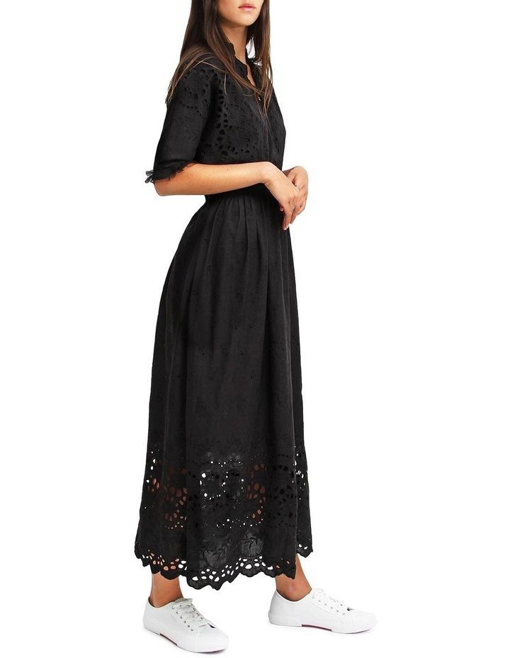 All Eyes On You Black Midi Dress image 2