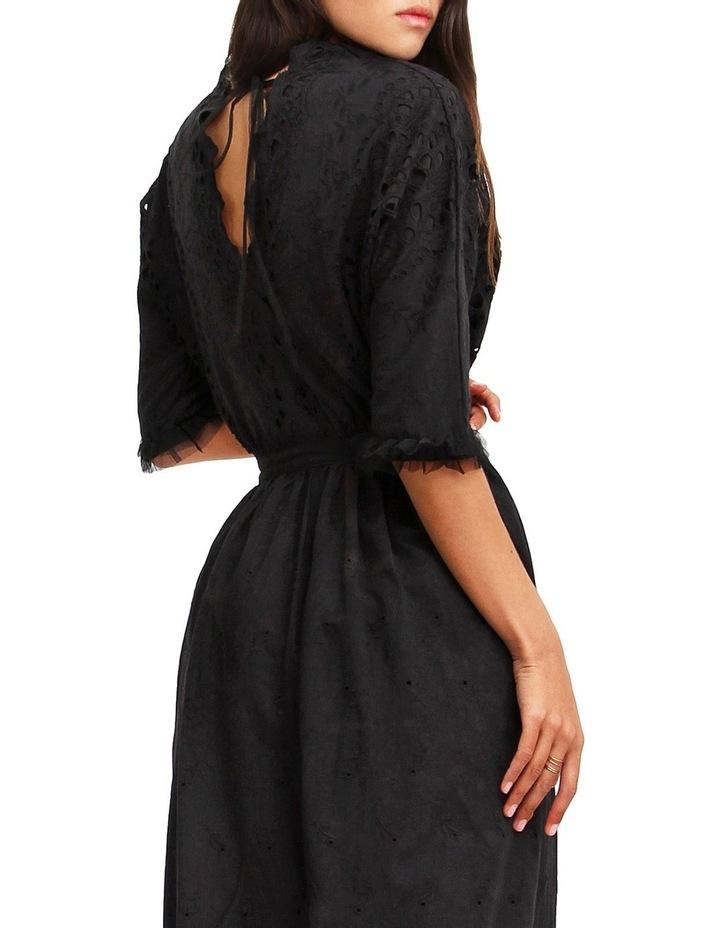 All Eyes On You Black Midi Dress image 6