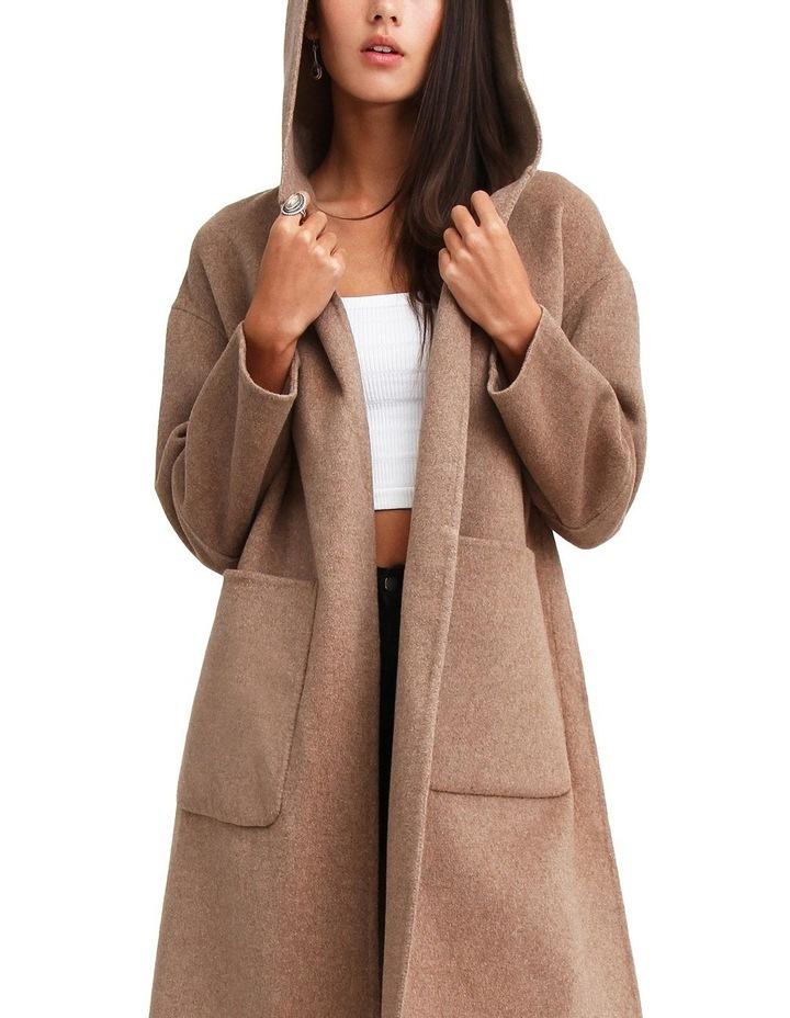 Walk This Way Oat Wool Blend Oversized Coat WTWX20OAT image 4