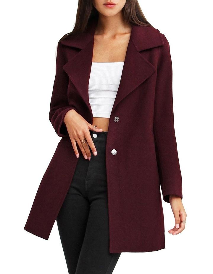 Ex-Boyfriend Aubergine Blend Oversized Jacket image 1