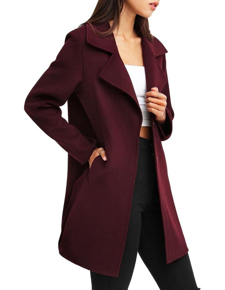 Ex-Boyfriend Aubergine Blend Oversized Jacket image 2