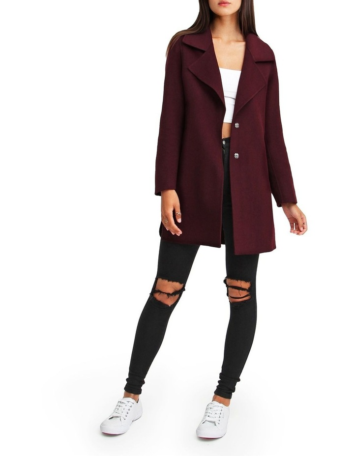 Ex-Boyfriend Aubergine Blend Oversized Jacket image 5