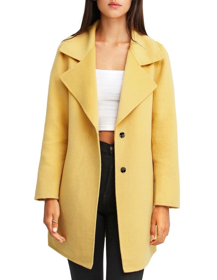 Ex-Boyfriend Wool Blend Oversized Jacket - Maize image 1
