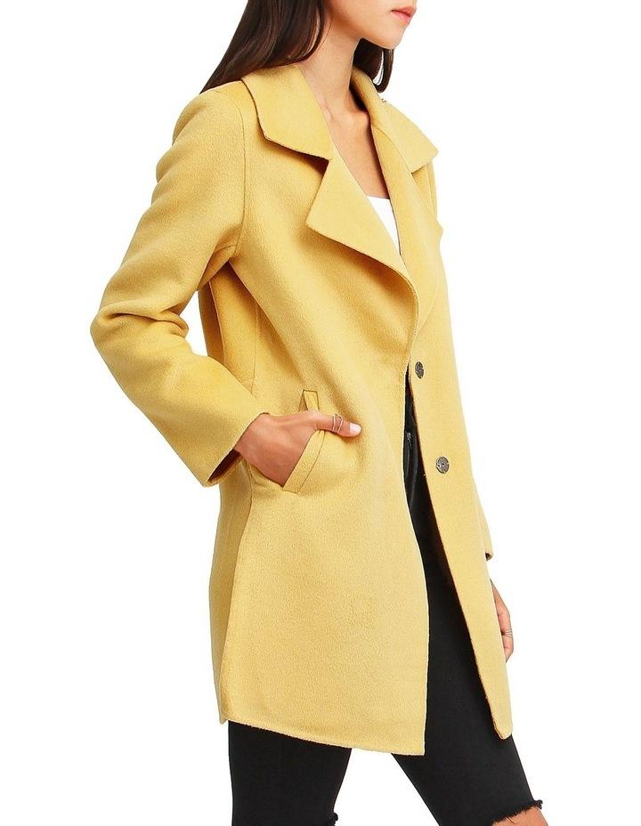 Ex-Boyfriend Wool Blend Oversized Jacket - Maize image 2