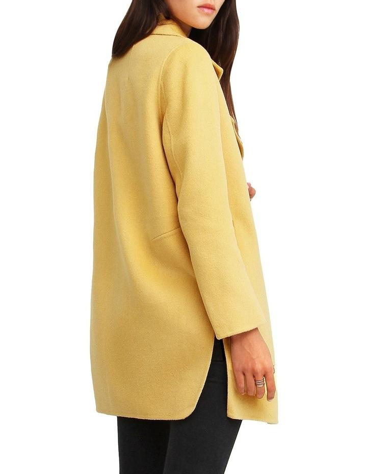 Ex-Boyfriend Wool Blend Oversized Jacket - Maize image 3