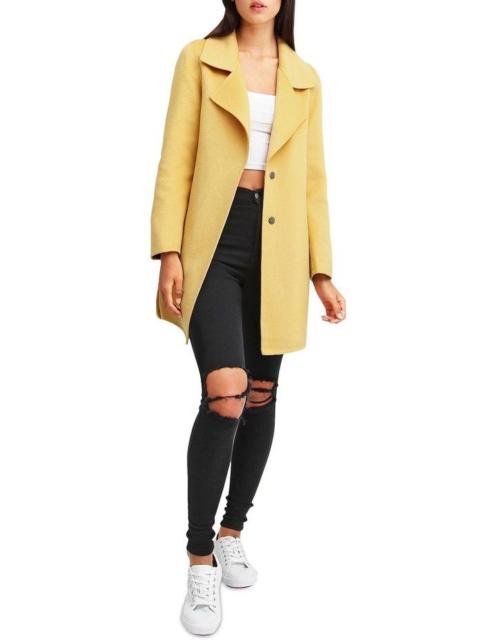 Ex-Boyfriend Wool Blend Oversized Jacket - Maize image 4
