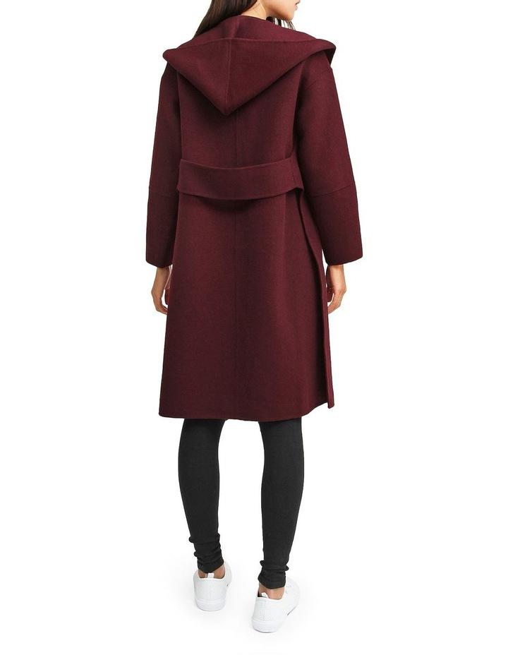 Walk This Way Wool Blend Oversized Coat - Aubergine image 3
