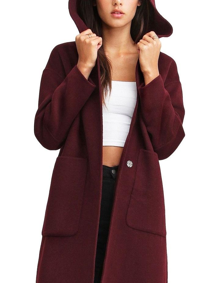 Walk This Way Wool Blend Oversized Coat - Aubergine image 5