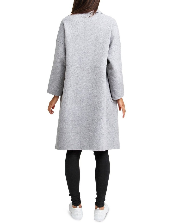Publisher Grey Marl Double-Breasted Wool Blend Coat image 3