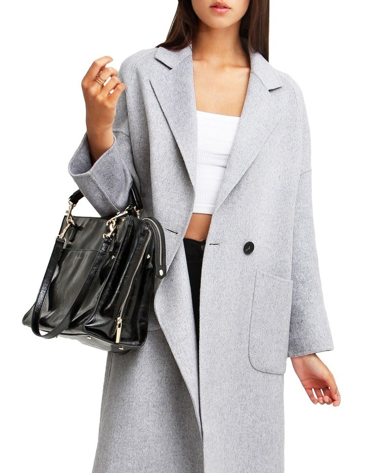 Publisher Grey Marl Double-Breasted Wool Blend Coat image 4