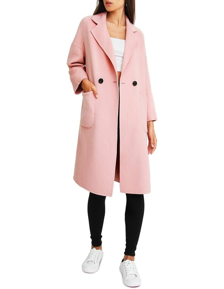 Publisher Pink Double-Breasted Wool Blend Coat image 1