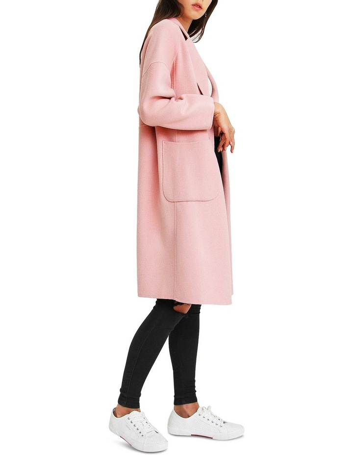 Publisher Pink Double-Breasted Wool Blend Coat image 2