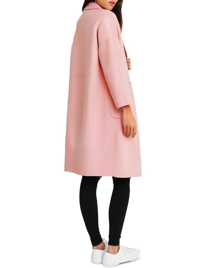 Publisher Pink Double-Breasted Wool Blend Coat image 3