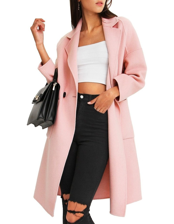 Publisher Pink Double-Breasted Wool Blend Coat image 4