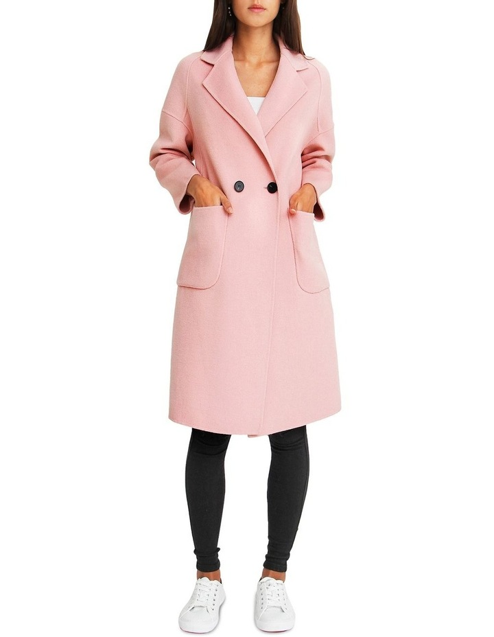 Publisher Pink Double-Breasted Wool Blend Coat image 5