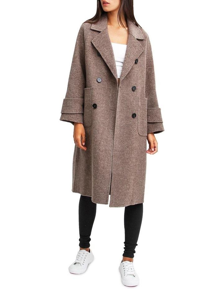 Rumor Has It Walnut Oversized Wool Blend Coat image 1