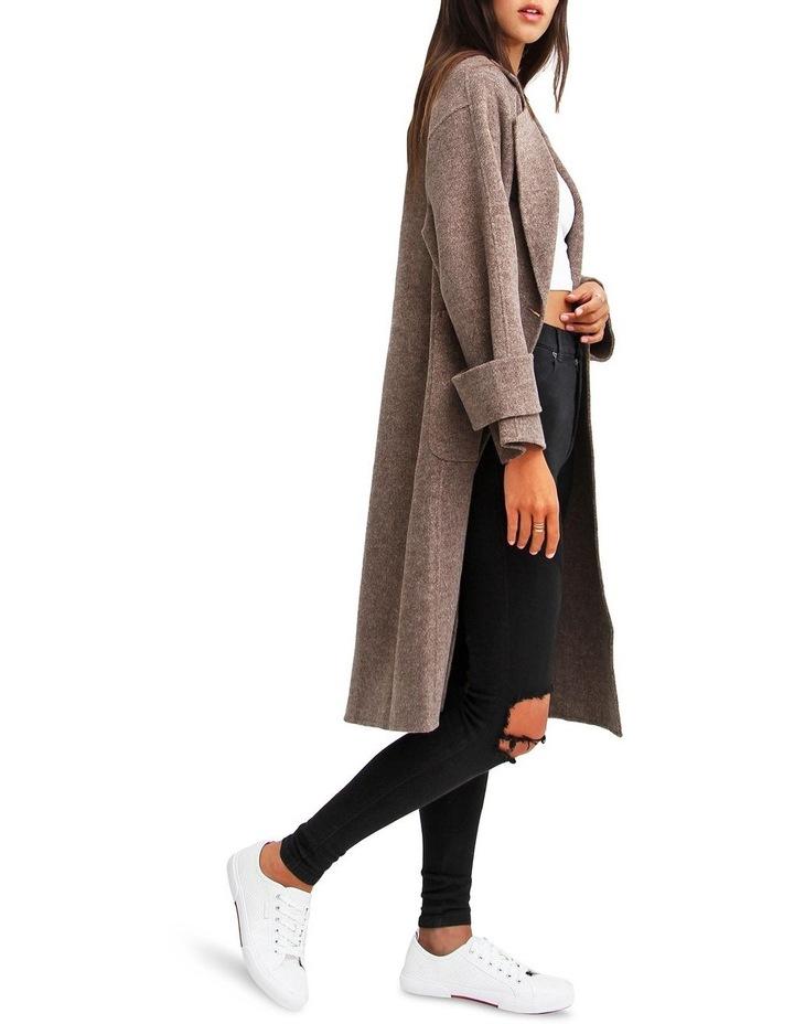 Rumor Has It Walnut Oversized Wool Blend Coat image 2
