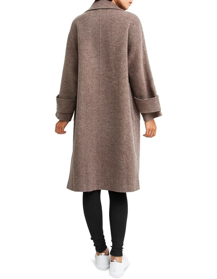 Rumor Has It Walnut Oversized Wool Blend Coat image 3