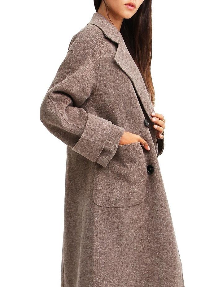 Rumor Has It Walnut Oversized Wool Blend Coat image 4