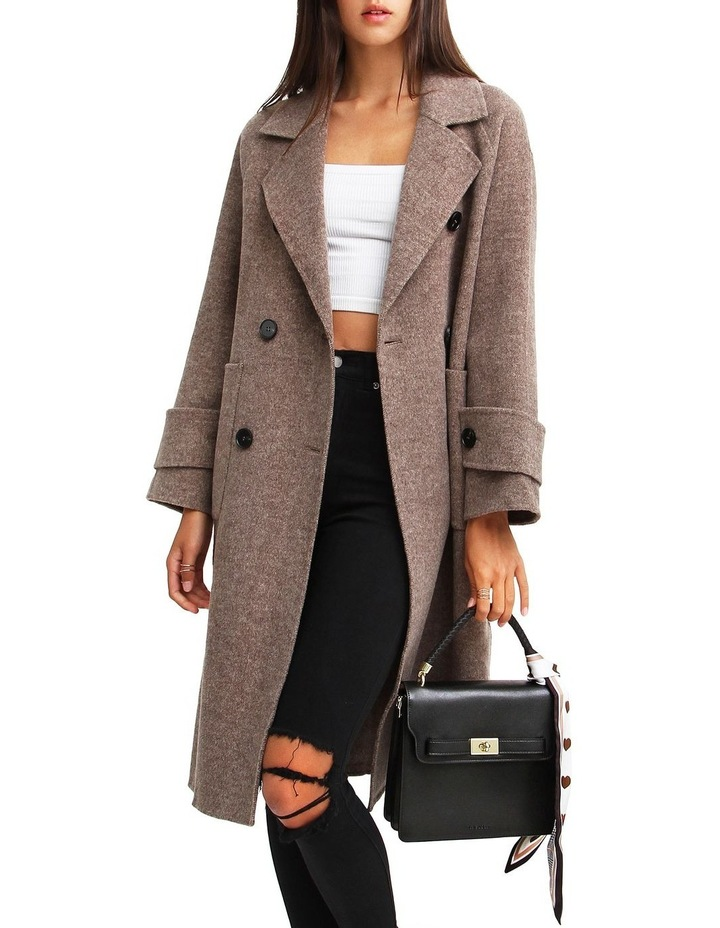 Rumor Has It Walnut Oversized Wool Blend Coat image 5