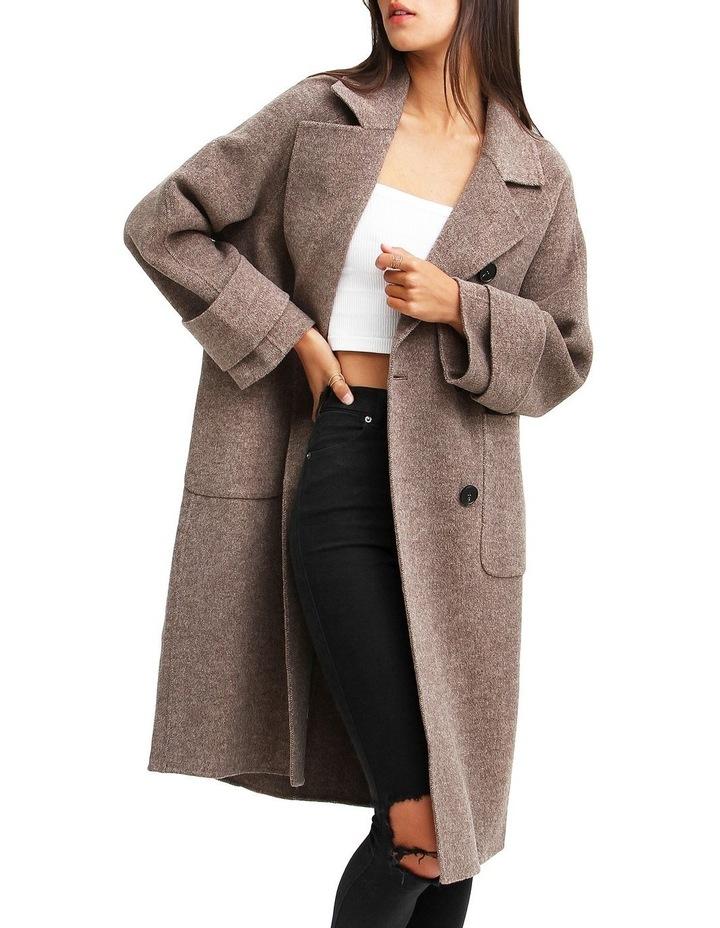 Rumor Has It Walnut Oversized Wool Blend Coat image 6