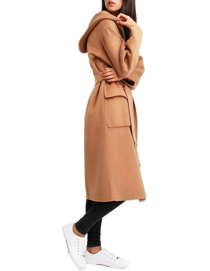 Runaway Wool Dark Camel Robe Coat image 2