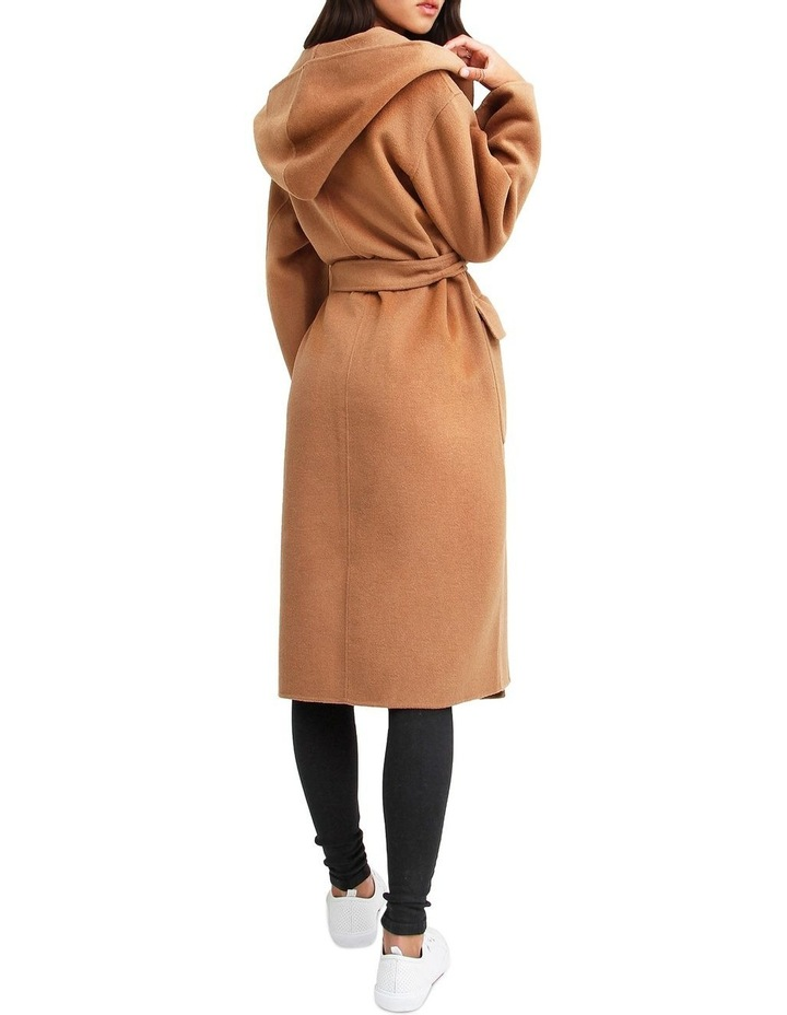 Runaway Wool Dark Camel Robe Coat image 3