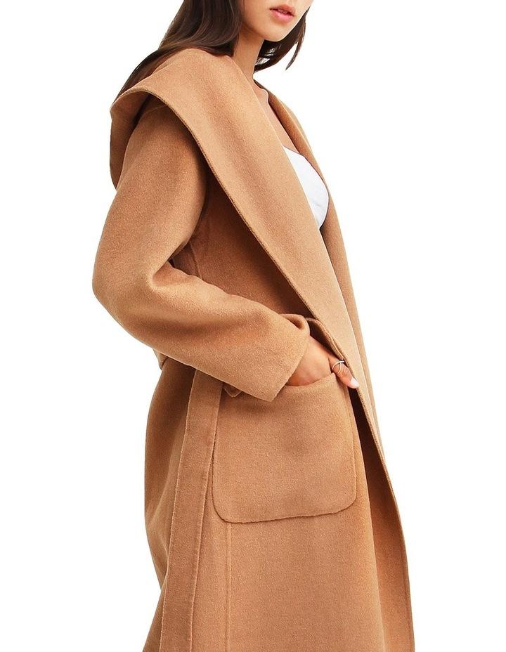 Runaway Wool Dark Camel Robe Coat image 7