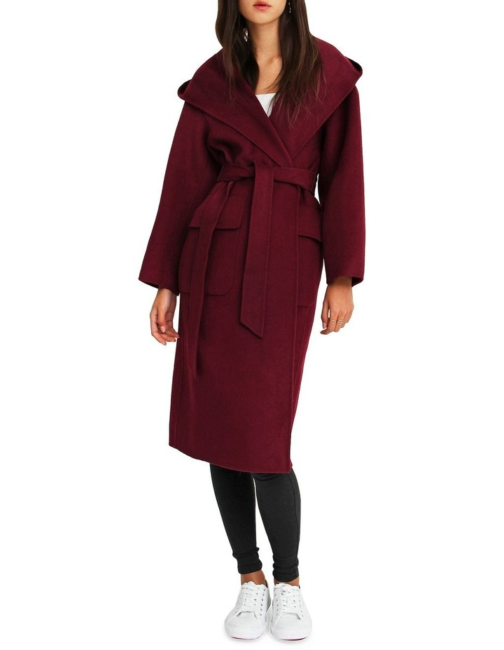 Runaway Wool Blend Robe Coat - Purple image 1