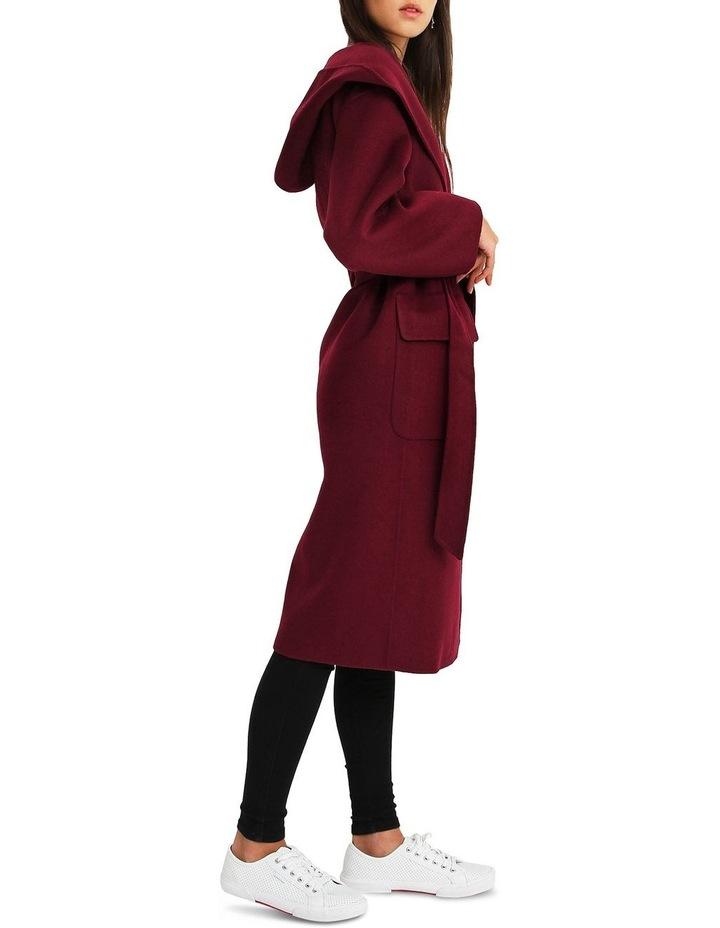 Runaway Wool Blend Robe Coat - Purple image 2