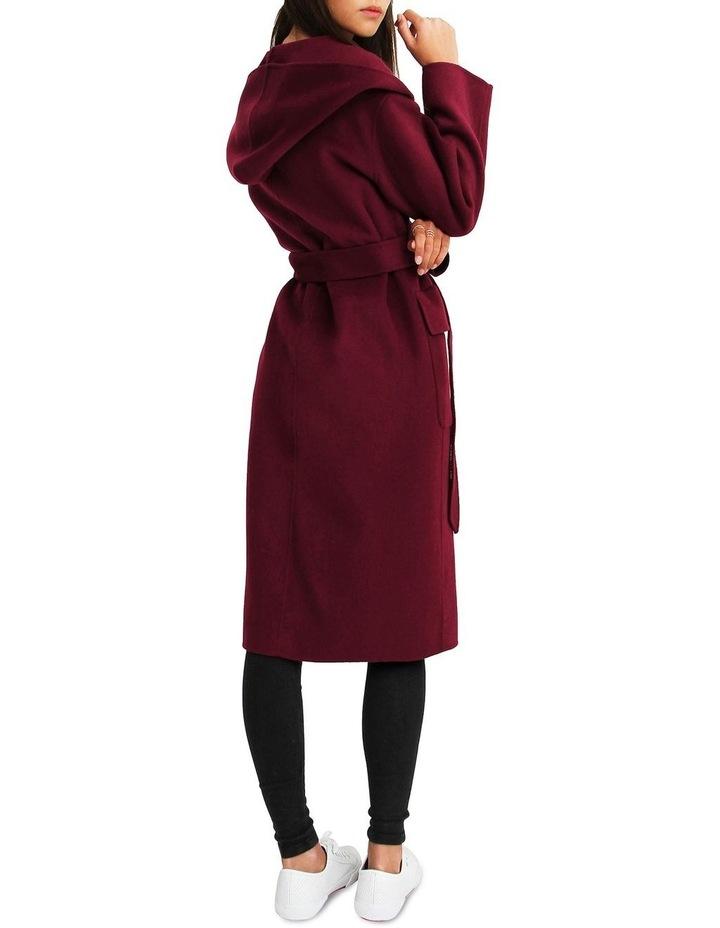 Runaway Wool Blend Robe Coat - Purple image 3