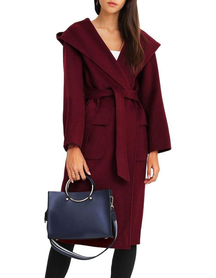 Runaway Wool Blend Robe Coat - Purple image 4