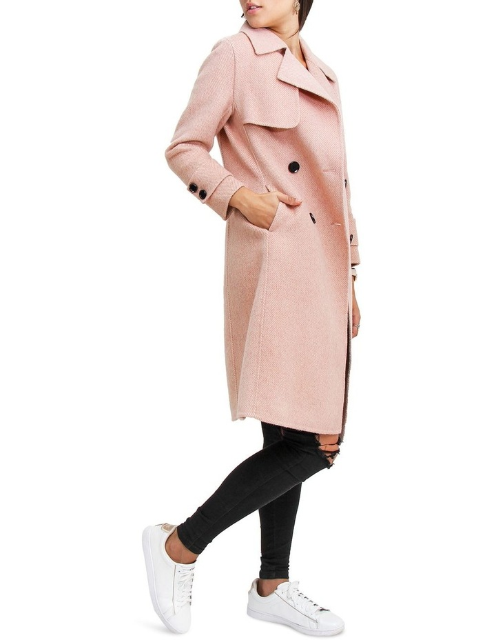Endless Attention Rose Pink Wool Coat image 2