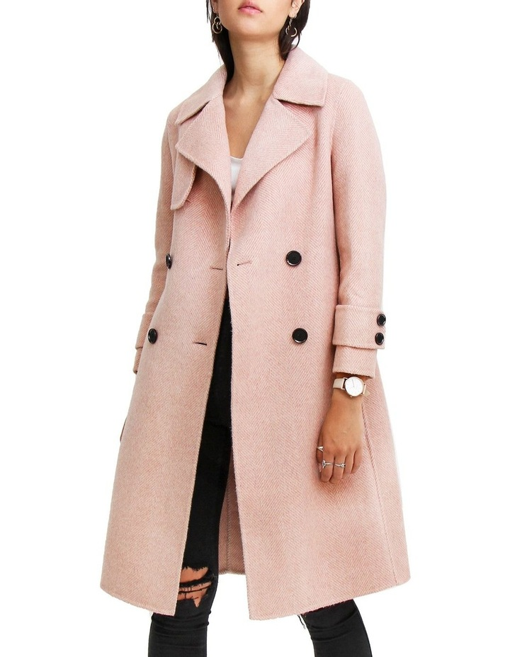 Endless Attention Rose Pink Wool Coat image 4