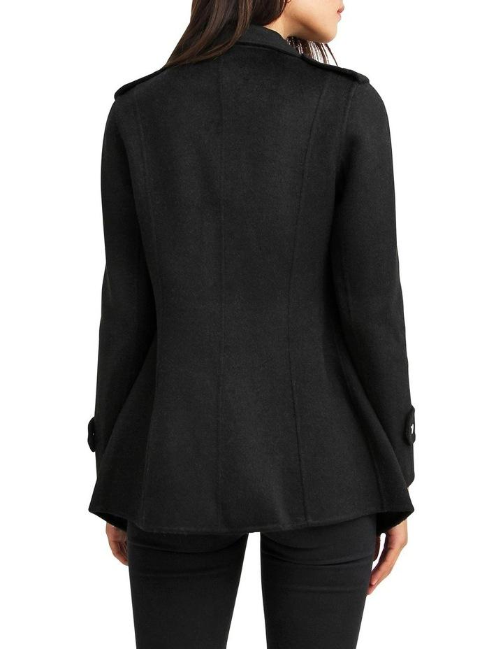 Bad Girl Black Wool Blend Moto Coat image 3