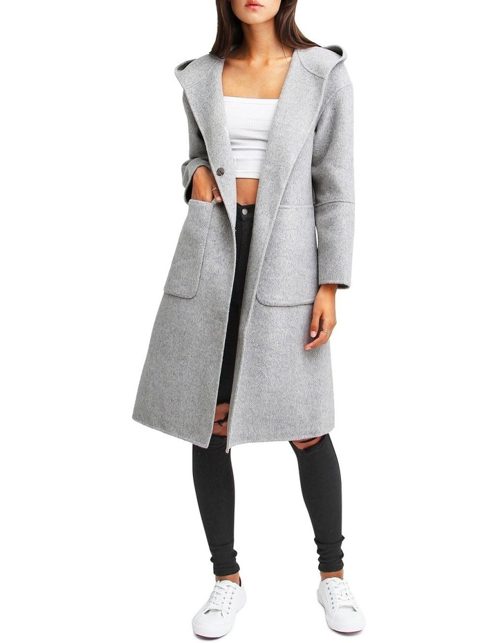 Walk This Way Grey Marl Wool Blend Oversized Coat image 1