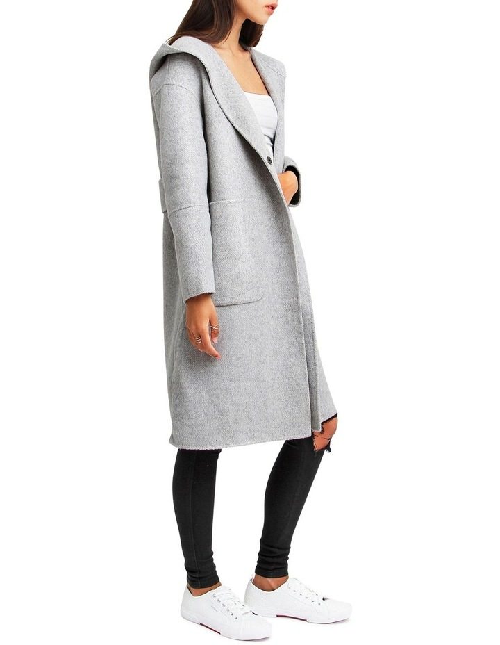 Walk This Way Grey Marl Wool Blend Oversized Coat image 2