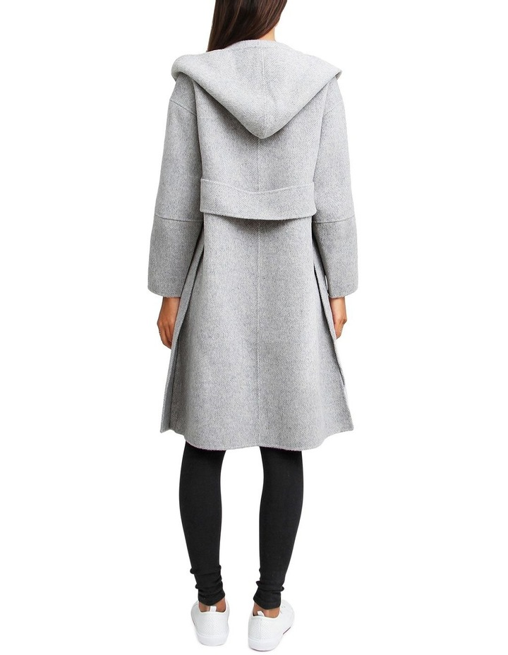 Walk This Way Grey Marl Wool Blend Oversized Coat image 3
