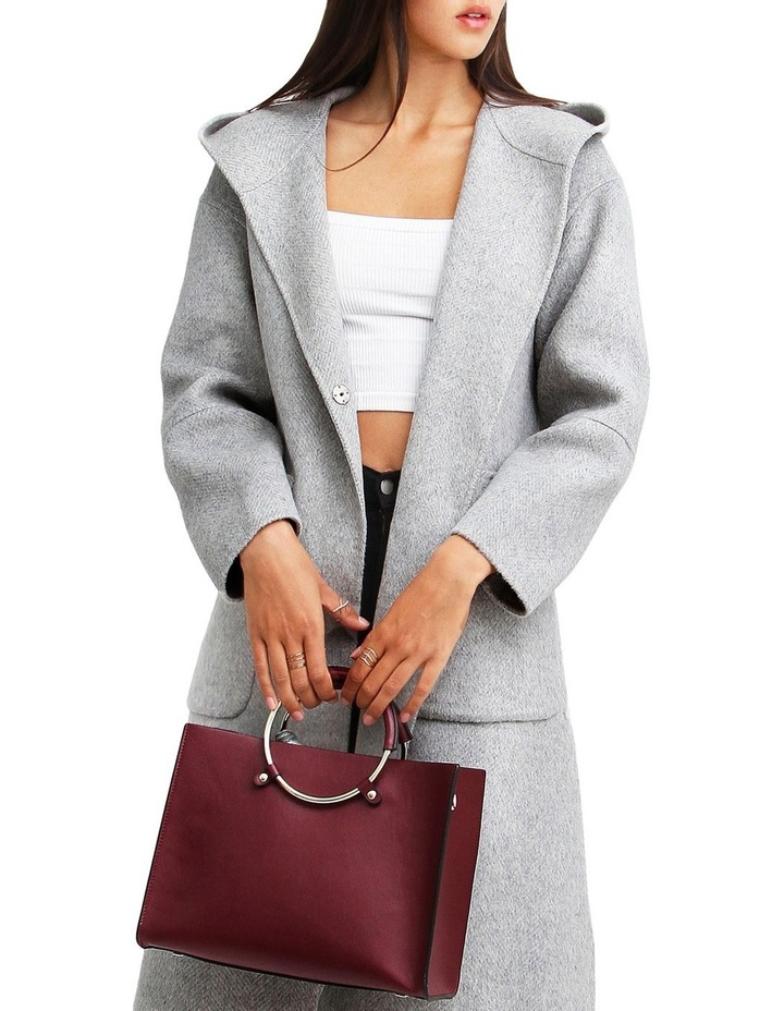 Walk This Way Grey Marl Wool Blend Oversized Coat image 4