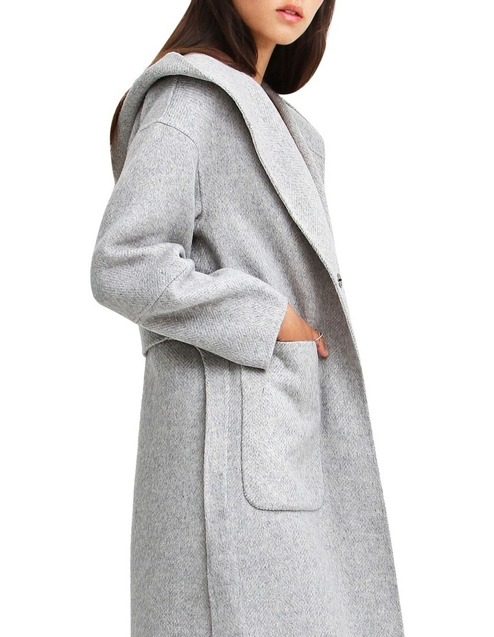 Walk This Way Grey Marl Wool Blend Oversized Coat image 5