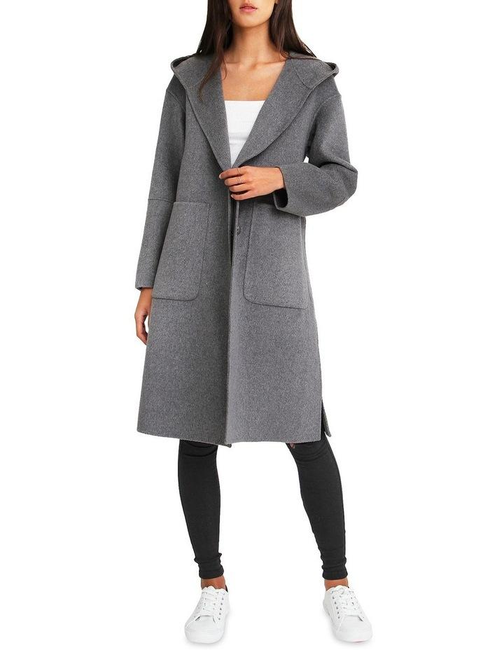 Walk This Way Wool Blend Oversized Coat - Dark Grey image 1