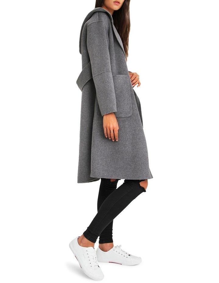 Walk This Way Wool Blend Oversized Coat - Dark Grey image 2