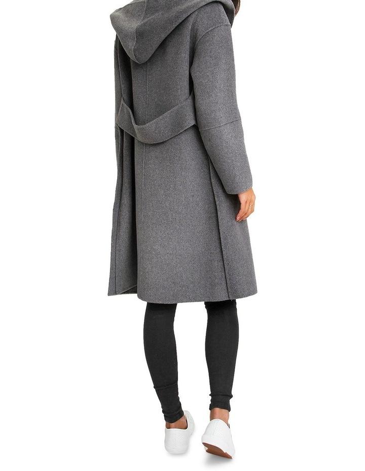Walk This Way Wool Blend Oversized Coat - Dark Grey image 3