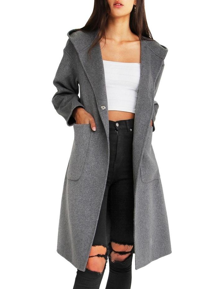Walk This Way Wool Blend Oversized Coat - Dark Grey image 5