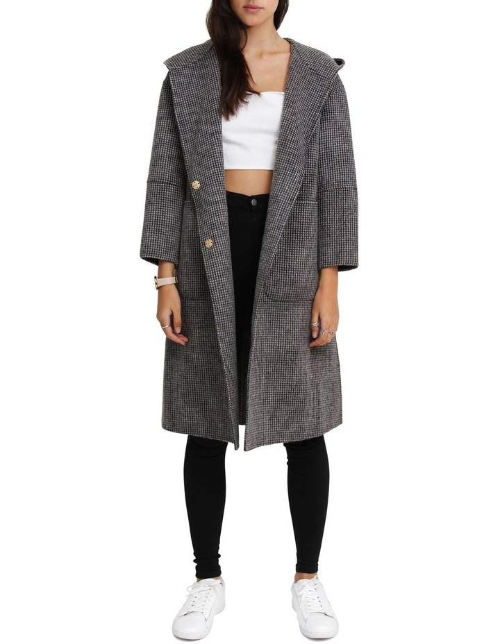 Walk This Way Blk/Wht Wool Blend Oversized Coat image 1